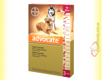 Купить Advocate капли для собак весом от 10 до 25кг