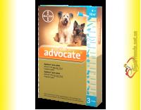 Купить Advocate капли для собак весом от 4 до 10кг