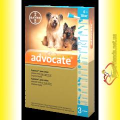 Advocate Капли для собак весом от 4 до 10кг