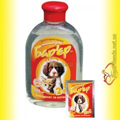 Барьер 2в1 шампунь противопаразитарный для щенков и котят 300мл