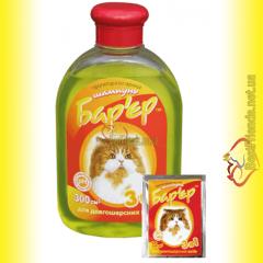 Барьер 3в1 шампунь противопаразитарный для кошек 300мл