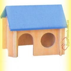 Домик деревянный для хомяка цветной, Лори
