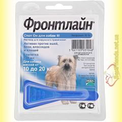 Фронтлайн Спот Он M капли для собак весом от 10 до 20кг