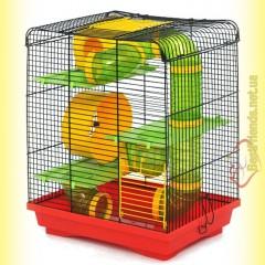 Клетка Лори Хомяк 3 Люкс краска, 33,5*23*43см