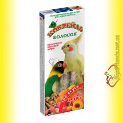 Колосок Коктейль для средних попугаев три вкуса (мультифрукт, ореховый, цитрус) 3*30гр