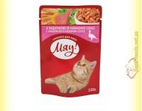 Купить Мяу! для кошек Индейка в нежном соусе, пауч 100гр