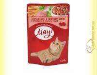 Купить Мяу! для кошек Кролик в нежном соусе, пауч 100гр