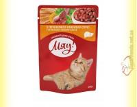 Купить Мяу! для кошек Печень в нежном соусе, пауч 100гр