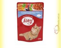 Купить Мяу! для кошек Рыба в нежном соусе, пауч 100гр