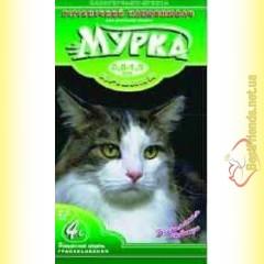 МУРКА Зеленая, Комкующийся мелкозернистый наполнитель с ароматизатором 5кг