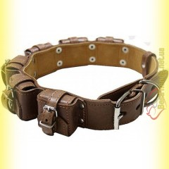 Ошейник кожаный с утяжелителями №3, 6*400гр Collar