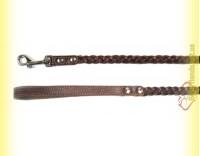 Купить Поводок коса кожаный плетеный 10мм, 1,3м BeFore