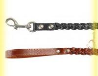 Купить Поводок коса кожаный плетеный 18мм, 1,3м BeFore