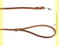Купить Поводок кожаный с заплетом 14мм, 1,1м BeFore