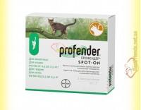 Купить Profender Спот-Он антигельминтик для кошек весом от 0,5 до 2,5кг